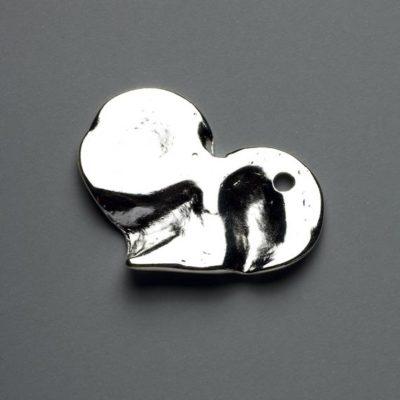Μεταλλικό Χυτό Στοιχείο Ζάμακ Καρδιά 59X48mm