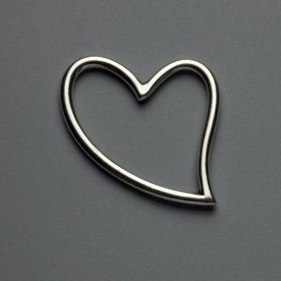 Μεταλλικό Χυτό Στοιχείο Ζάμακ  Καρδιά 59X46 mm