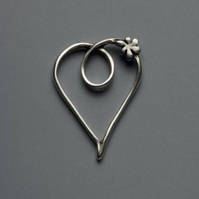 Μεταλλικό Χυτό Στοιχείο Ζάμακ  Καρδιά  50Χ36mm