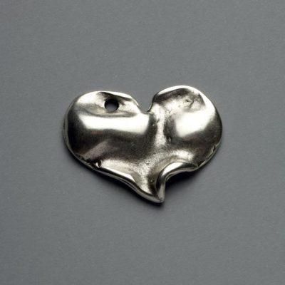 Μεταλλικό Χυτό Στοιχείο Ζάμακ  Καρδιά  38Χ32mm