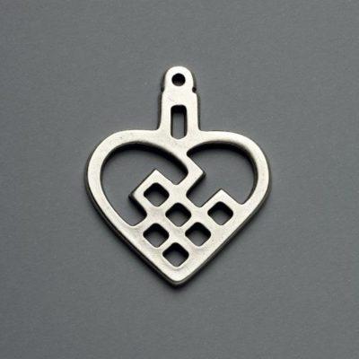 Μεταλλικό Χυτό Στοιχείο Ζάμακ  Καρδιά  43Χ36mm