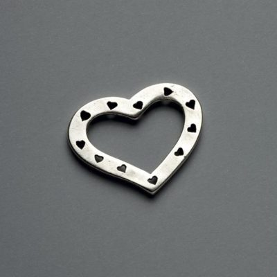 Μεταλλικό Χυτό Στοιχείο Ζάμακ  Καρδιά  35X28mm