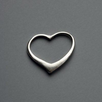 Μεταλλικό Χυτό Στοιχείο Ζάμακ  Καρδιά  30X29mm