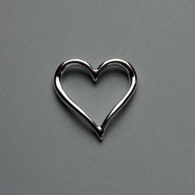 Μεταλλικό Χυτό Στοιχείο Ζάμακ Καρδιά 32Χ29mm