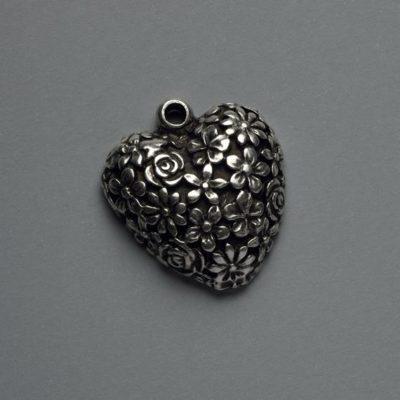 Μεταλλικό Χυτό Στοιχείο Ζάμακ Καρδιά 33Χ29mm
