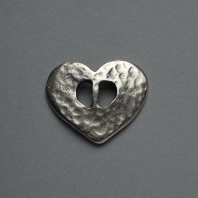 Μεταλλικό Χυτό Στοιχείο Ζάμακ Καρδιά 25X22mm
