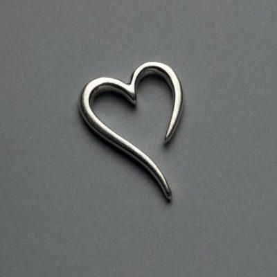 Μεταλλικό Χυτό Στοιχείο Ζάμακ Καρδιά 30X21mm