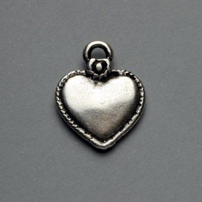 Μεταλλικό Χυτό Στοιχείο Ζάμακ Καρδιά 22X18mm