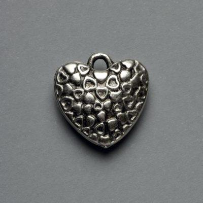 Μεταλλικό Χυτό Στοιχείο Ζάμακ Καρδιά 19X19mm