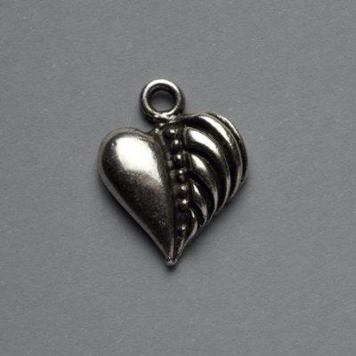 Μεταλλικό Χυτό Στοιχείο Ζάμακ Καρδιά 20X15mm