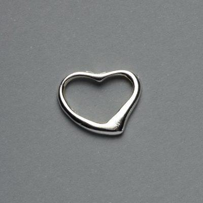 Μεταλλικό Χυτό Στοιχείο Ζάμακ Καρδιά 15X14mm