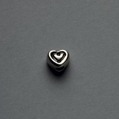 Μεταλλικό Χυτό Στοιχείο Ζάμακ Καρδιά 6X5mm
