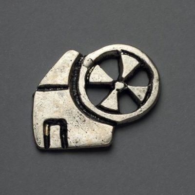 Μεταλλικό Χυτό Στοιχείο Ζάμακ Μύλος 28Χ32mm