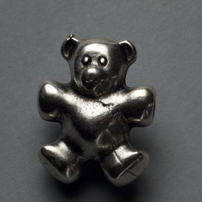 Μεταλλικό Χυτό Στοιχείο Ζάμακ Αρκουδάκι 23Χ19mm