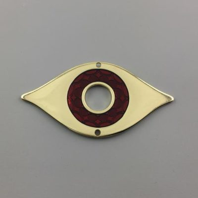 Μεταλλικό Χυτό Στοιχείο Ζάμακ Μάτι με Σμάλτο 52Χ100mm