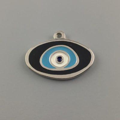 Μεταλλικό Χυτό Στοιχείο Ζάμακ Μάτι με Σμάλτο 25Χ33mm