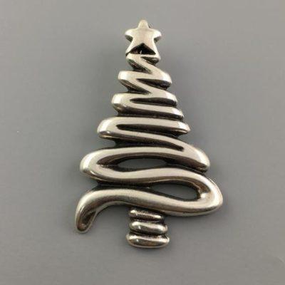 Μεταλλικό Χυτό Στοιχείο Ζάμακ Χριστουγεννιάτικο Δέντρο 57Χ36mm