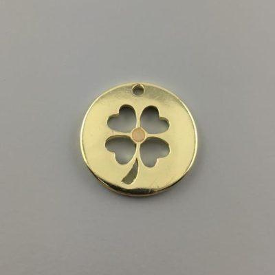 Μεταλλικό Χυτό Στοιχείο Ζάμακ Τετράφυλλο 27Χ27mm