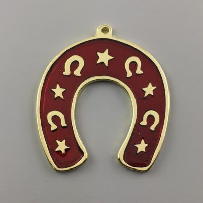 Cast Zamak Enameled Horse Shoe 69Χ60mm