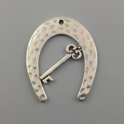 Μεταλλικό Χυτό Στοιχείο Ζάμακ Πέταλο με Κλειδί 56Χ45mm
