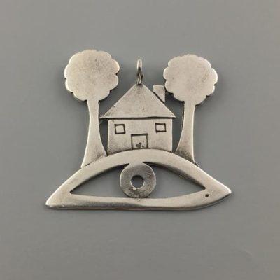 Μεταλλικό Χυτό Στοιχείο Ζάμακ Σπίτι με Μάτι 36Χ39mm