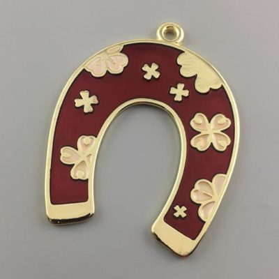 Cast Zamak Enameled Horse Shoe 81Χ63mm