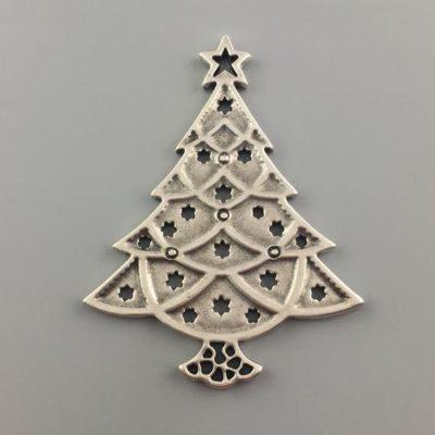 Μεταλλικό Χυτό Στοιχείο Ζάμακ Χριστουγεννιάτικο Δέντρο 105Χ80mm