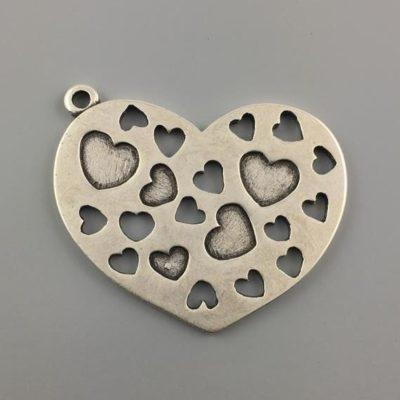 Μεταλλικό Χυτό Στοιχείο Ζάμακ Καρδιά 61Χ52mm
