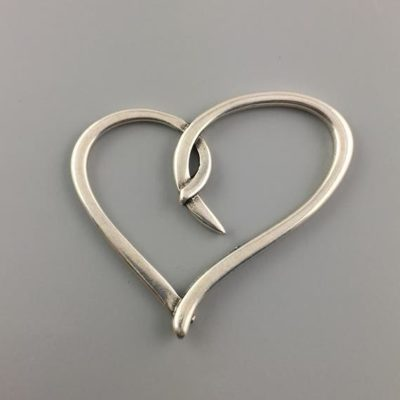 Μεταλλικό Χυτό Στοιχείο Ζάμακ Καρδιά 70Χ74mm
