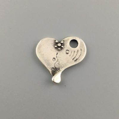 Μεταλλικό Χυτό Στοιχείο Ζάμακ Καρδιά 18Χ17mm