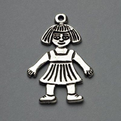 Μεταλλικό Χυτό Στοιχείο Ζάμακ Κορίτσι 36Χ25mm