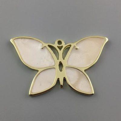 Μεταλλικό Χυτό Στοιχείο Ζάμακ Πεταλούδα με Σμάλτο 38Χ61mm