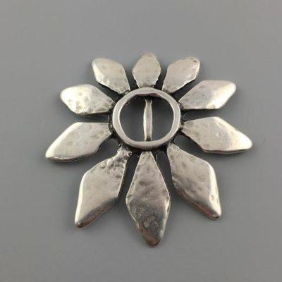 Μεταλλικό Χυτό Στοιχείο Ζάμακ Λουλούδι 54Χ55mm