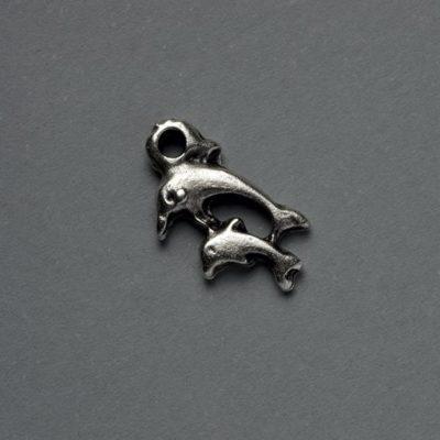 Μεταλλικό Χυτό Στοιχείο Ζάμακ Δελφίνια 15Χ9mm