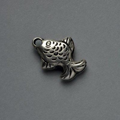 Μεταλλικό Χυτό Στοιχείο Ζάμακ Ψάρι 16Χ12mm