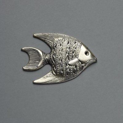 Μεταλλικό Χυτό Στοιχείο Ζάμακ Ψάρι 43Χ29mm