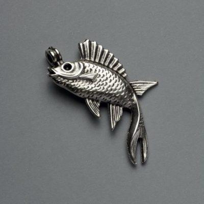 Μεταλλικό Χυτό Στοιχείο Ζάμακ Ψάρι 49Χ24mm