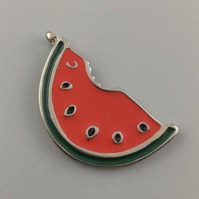 Cast Zamak Enameled Watermelon 45Χ23mm