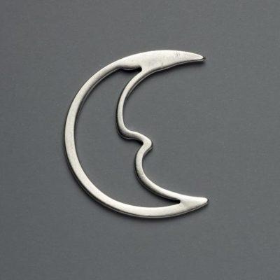 Μεταλλικό Χυτό Στοιχείο Ζάμακ Φεγγάρι 51Χ46mm