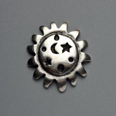 Μεταλλικό Χυτό Στοιχείο Ζάμακ Ήλιος 42Χ42mm
