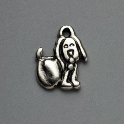 Μεταλλικό Χυτό Στοιχείο Ζάμακ Σκύλος 20Χ23mm