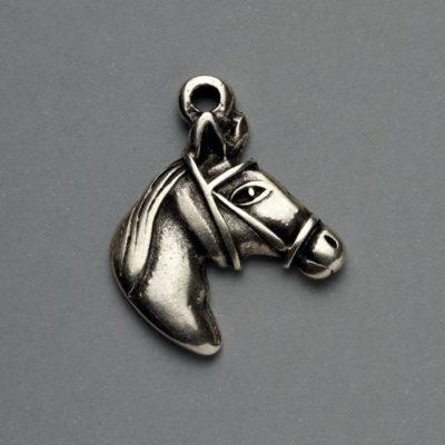Μεταλλικό Χυτό Στοιχείο Ζάμακ Άλογο 23Χ22mm