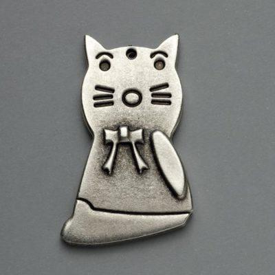 Μεταλλικό Χυτό Στοιχείο Ζάμακ Γάτα 49Χ30mm
