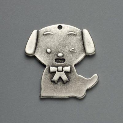 Μεταλλικό Χυτό Στοιχείο Ζάμακ Σκύλος 42Χ40mm