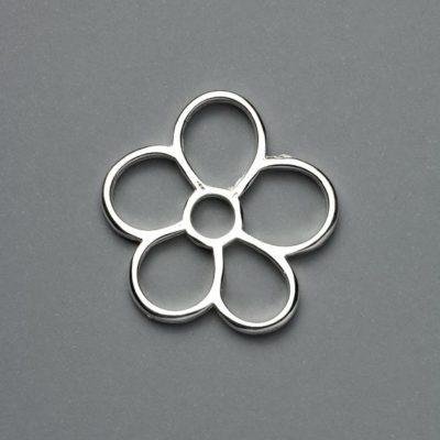 Μεταλλικό Χυτό Στοιχείο Ζάμακ Λουλούδι 32Χ31mm