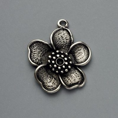 Μεταλλικό Χυτό Στοιχείο Ζάμακ Λουλούδι 31Χ27mm