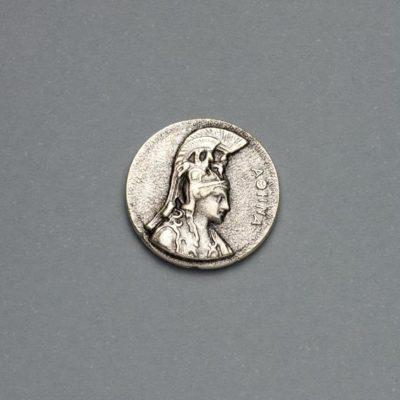 Μεταλλικό Χυτό Στοιχείο Ζάμακ Αθηνά 19Χ19mm