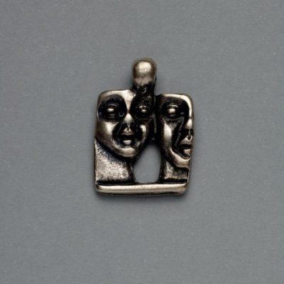 Μεταλλικό Χυτό Στοιχείο Ζάμακ Αγάλματα 23Χ16mm