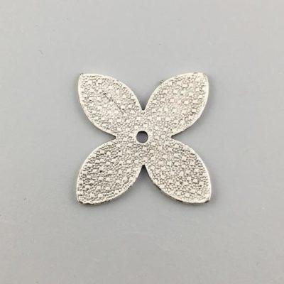 Μεταλλικό Χυτό Στοιχείο Ζάμακ Βοηθητικό Λουλούδι 27Χ27mm