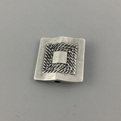Μεταλλικό Χυτό Στοιχείο Ζάμακ Βοηθητικό Τετράγωνο 21Χ20mm